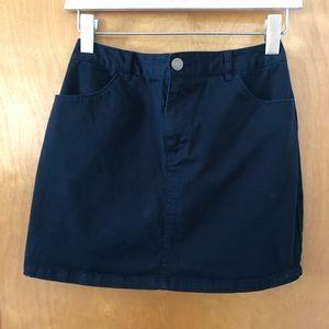 F21 Black Mini Skirt